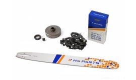 Schiene 50 cm + Kette 72 Glieder 3/8 1,6 mm + Kettenrad Stihl MS660