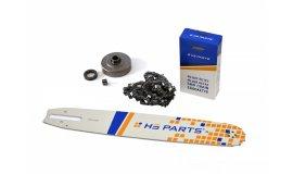 Aktionsset 38cm Kette + 56-Zellen Kette 3/8 1,6mm für Stihl + Kette MS360,390 für Stihl